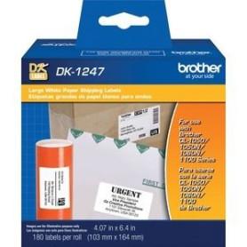 cinta 4.07 in x 6.4 in (103 mm x 164 mm) Etiquetas de papel blanco de envío grandes DK1247