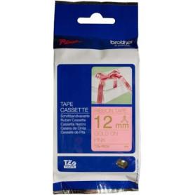 Cinta satinada no adhesiva. Texto dorado sobre tejido rosa no adhesivo. Ancho: 12mm. Longitud: 4m. TZeRE34