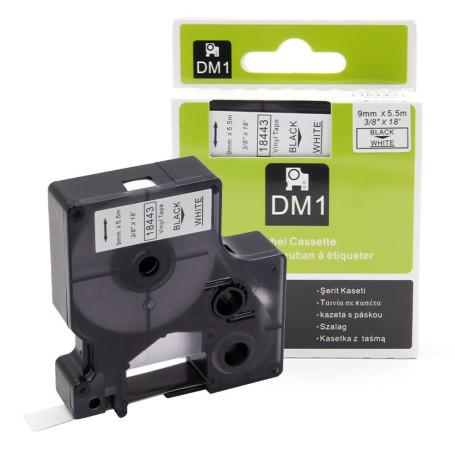 Cinta rotuladora vinilica 3M-DYMO para pl100 9 mm