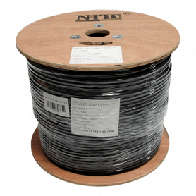 CABLE FTP CAT6 305MTS 23AWG CCA PVC NEGRO