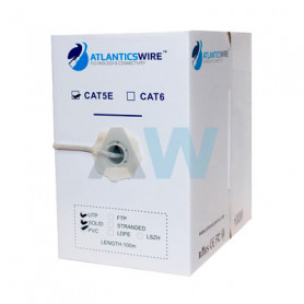 CABLE FTP CAT6 100MTS 23AWG CCA PVC NEGRO