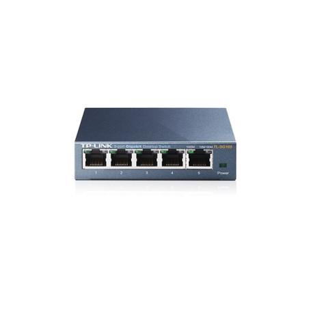 switch 5-port desktop , 5 10/100/1000m, steel case TL-SG105