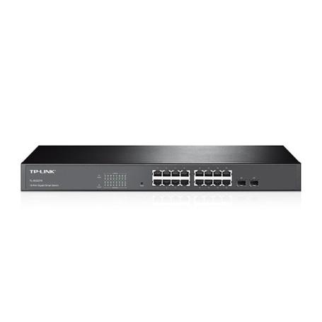 switch smart 16 puertos 10/100 + 2 puertos gigabit TL-sl2216