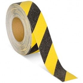 cinta antideslizante amarillo negro (48mmx18mts.)