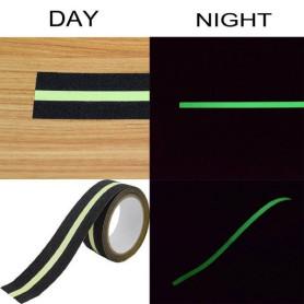 cinta antideslizante negro fosforescente (60mmx4.5mts.)