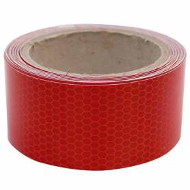 cinta reflectante alta roja (25mmx5mts.)