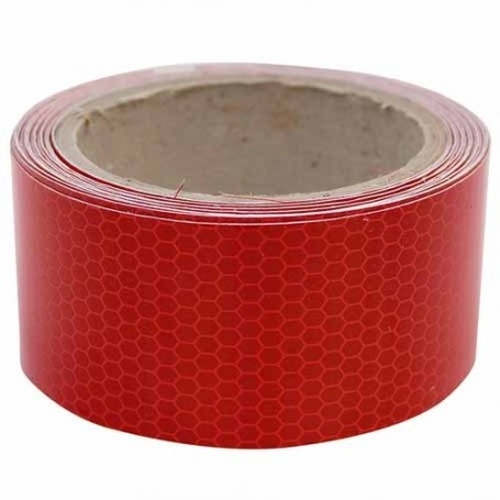 cinta reflectante roja 50mm x 45.72 mts