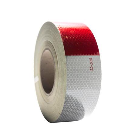 cinta reflectante alta int. Blanco-rojo (50mmx45.72mts.)
