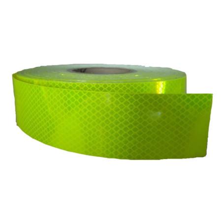 cinta reflectante alta int. verde (50mm x 45mts.)