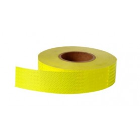 cinta reflectante alta int. Amarillo limon (50mmx45.72mts.)