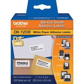 etiqueta adhesiva para código de barra Brother DK1209