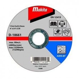 "DISCO CORTE METAL 4-1/2"" (115 X 2,5 X 22,23 mm.) RECTO / A30S-BF"